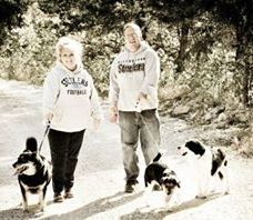 a walk with furbabies