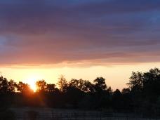 Sunrise over the Mississippi River Plain